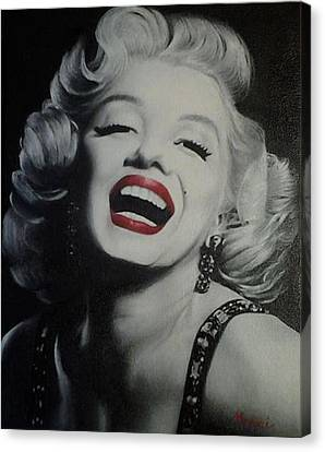 Marilyn - Oil Painting Canvas Print by Elizah Monai