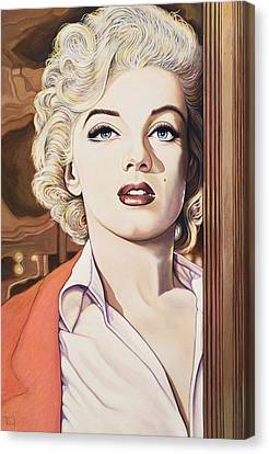 Marilyn In Bus Stop Canvas Print by Richard Greenberg
