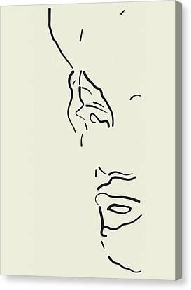Marilyn In Lines Canvas Print by John Farr