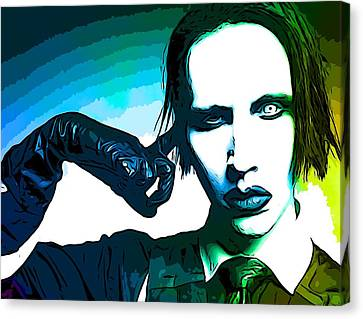 Strange Canvas Print - Marilyn Manson Poster by Dan Sproul