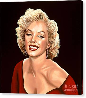 Blonde Canvas Print - Marilyn Monroe 3 by Paul Meijering
