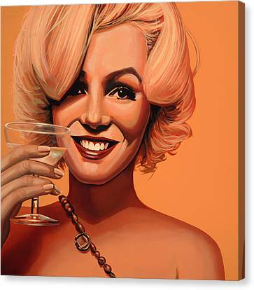 Marilyn Monroe 5 Canvas Print by Paul Meijering