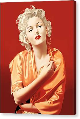Marilyn Monroe Canvas Print by Andrew Harrison