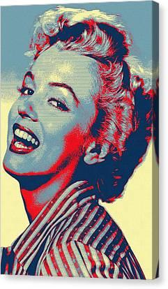 Marilyn Monroe Canvas Print by Art Cinema Gallery