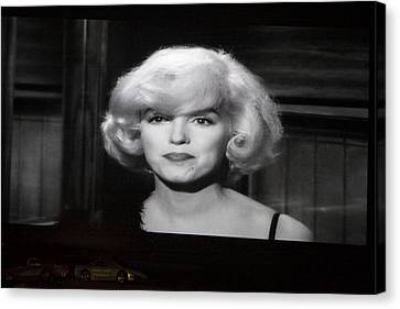 Marilyn Monroe At The Drive In Theater Canvas Print by Linda Phelps