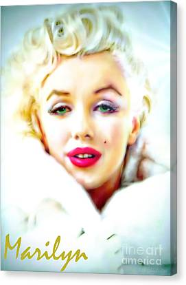 Marilyn Monroe Canvas Print by Barbara Chichester