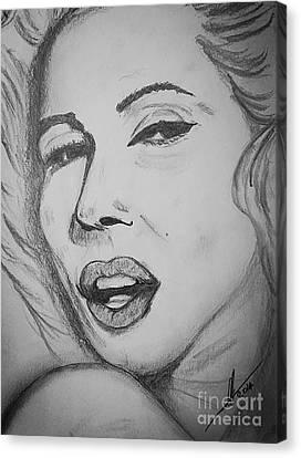 Marilyn Monroe Canvas Print by Collin A Clarke