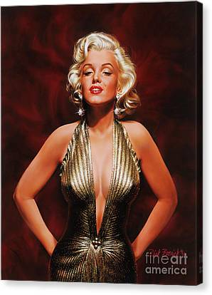 Marilyn Monroe Canvas Print by Dick Bobnick