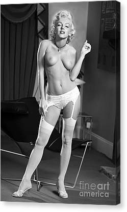 Marilyn Monroe Fantasy Nude 3 Canvas Print by Jorge Fernandez