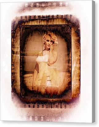 Marilyn Monroe Film Canvas Print by EricaMaxine  Price