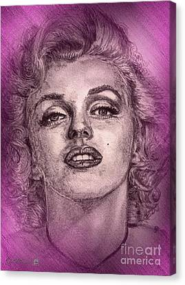 Marilyn Monroe In Pink Canvas Print by J McCombie