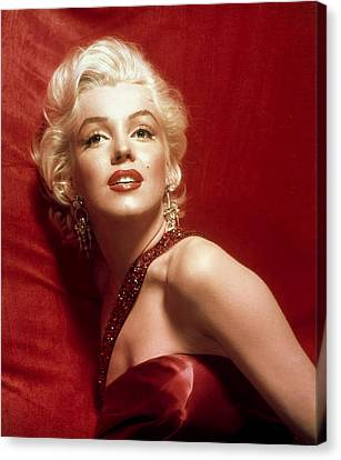 Marilyn Monroe In Red Canvas Print