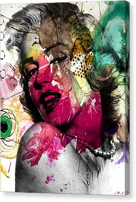 Human Beings Canvas Print - Marilyn Monroe by Mark Ashkenazi