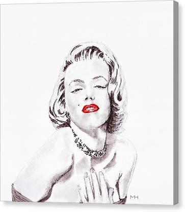 Marilyn Monroe Canvas Print by Martin Howard