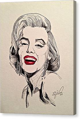 Marilyn Monroe Canvas Print by Michael  Parrella