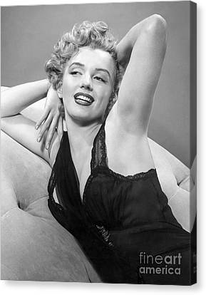Marilyn Monroe Canvas Print by MMG Archives