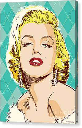 Marilyn Monroe Pop Art Canvas Print by Jim Zahniser