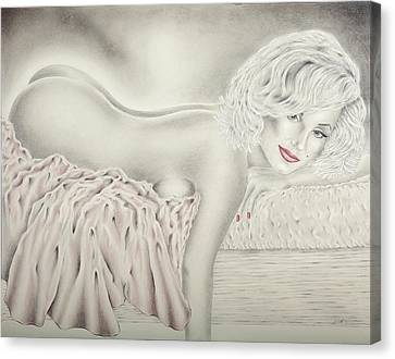 Marilyn Monroe Reclining Nude Canvas Print