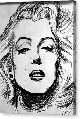 Marilyn Monroe Canvas Print by Salman Ravish