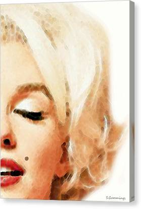 Blonde Canvas Print - Marilyn Monroe - Sigh by Sharon Cummings