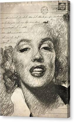 Marilyn Monroe Canvas Print by Taylan Apukovska