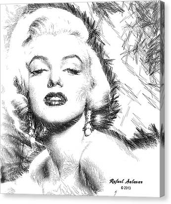 Marilyn Monroe - The One And Only  Canvas Print by Rafael Salazar