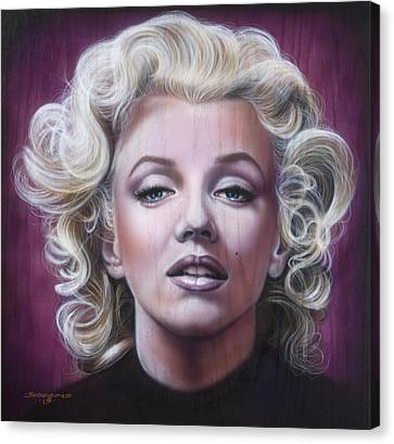 Marilyn Monroe Canvas Print by Timothy Scoggins