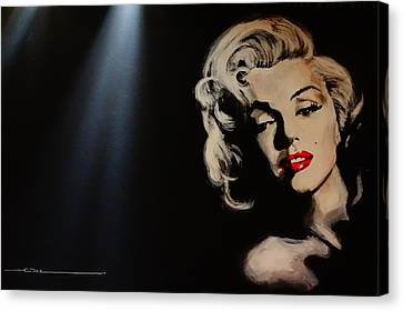 Canvas Print featuring the painting Marilyn Monroe - Tmi by Eric Dee