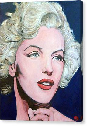 Celebrity Portrait Canvas Print - Marilyn Monroe by Tom Roderick