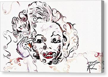 Marilyn Monroe With Diamonds Are A Girls Best Friend 2 Canvas Print