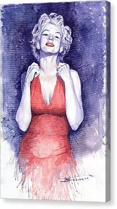 Marilyn Monroe Canvas Print - Marilyn Monroe by Yuriy  Shevchuk