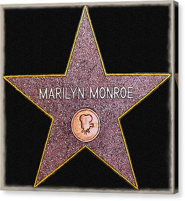 Marilyn Monroe's Star Painting  Canvas Print by Bob and Nadine Johnston