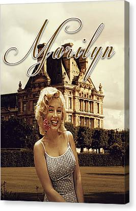 Marilyn Paris Monroe Canvas Print by Greg Sharpe