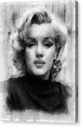 Munroe Canvas Print - Marilyn by Patrick OHare