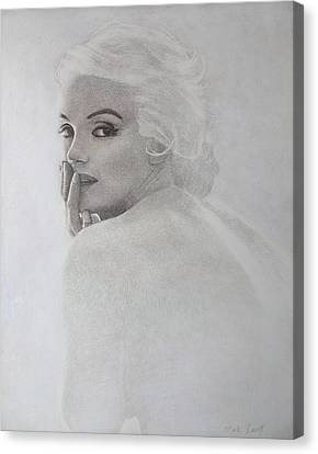 Marilyn Profile Canvas Print