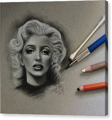 Marilyn Canvas Print by Samantha Howell