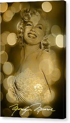 Marilyn Sparkles Canvas Print by Greg Sharpe