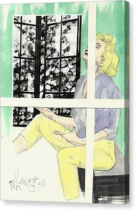 Marilyn's Two Windows Canvas Print by P J Lewis