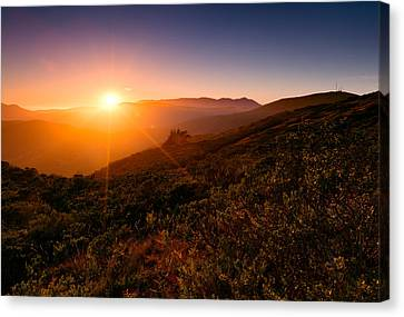 Marin County Sunset Canvas Print by Alexis Birkill