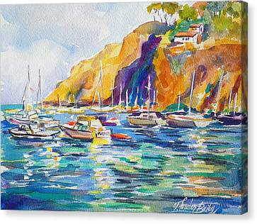Marina At Catalina Canvas Print by Therese Fowler-Bailey