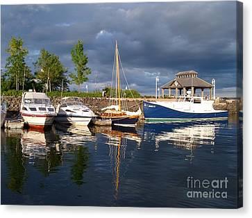 Marina At Charlottetown Prince Edward Island Canvas Print