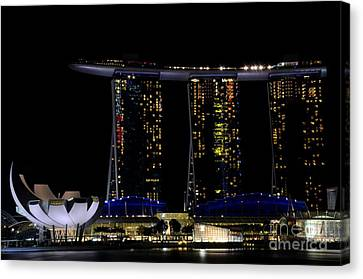 Marina Bay Sands Integrated Resort Hotel And Casino And Artscience Museum Singapore Marina Bay Canvas Print