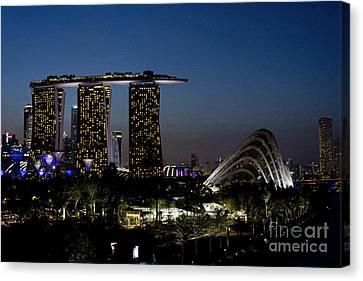 Marina Bay Skyline Canvas Print