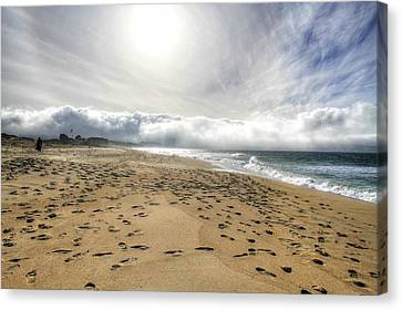Marina Beach Walk Canvas Print