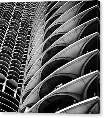 Marina City - Chicago 3 Canvas Print by Niels Nielsen