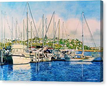 Marina Del Rey Afternoon Canvas Print