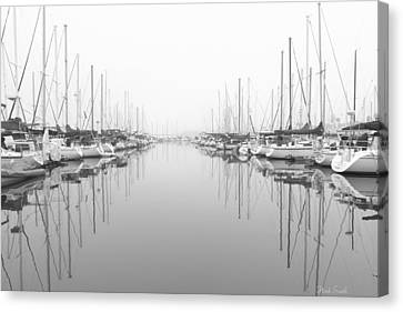 Canvas Print featuring the photograph Marina - High Key by Heidi Smith