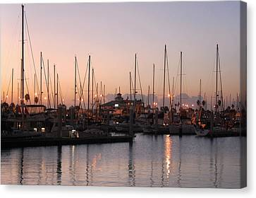 Marina Sunrise 12 Canvas Print