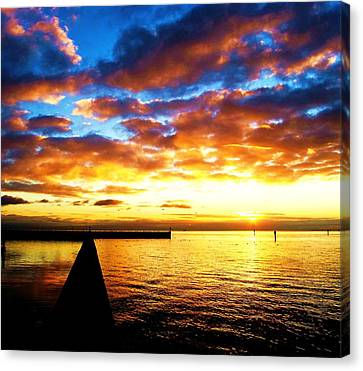 Marina Sunrise Canvas Print by John King