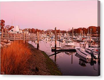 Marina Sunrise Canvas Print by Lourry Legarde